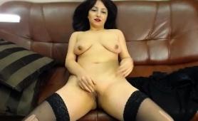 buxom-brunette-mom-in-stockings-masturbates-on-the-webcam