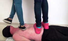 three-sexy-amateur-girls-punishing-a-guy-with-their-feet