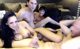 Two Wild Mature Couples Engage In Group Sex On The Webcam