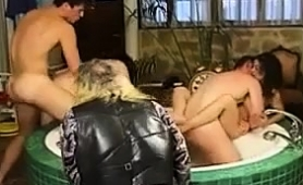 Two Exciting European Couples Indulge In Torrid Group Sex