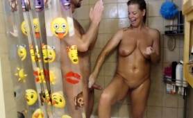Stacked Amateur Wife Gives A Sensual Handjob In The Shower