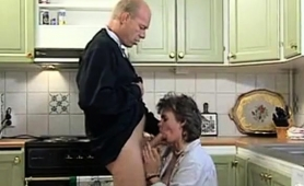 Mature Housewife Satisfies Her Need For Cock In The Kitchen
