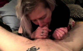 Naughty Blonde Wife Milks A Long Dick With Her Sweet Lips