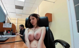 Busty Russian Teen Pleases Her Fiery Cunt In A Public Place