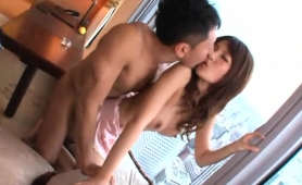 Pretty Asian Girl Surrenders Her Hairy Peach To A Meat Stick