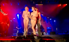 Attractive Amateur Teens Peeling Off Their Clothes On Stage