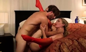 Sultry Blonde Milf In Lingerie Gets Rammed By A Young Stud