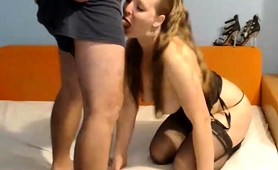 Alluring Camgirl In Stockings Gets Rammed Hard From Behind